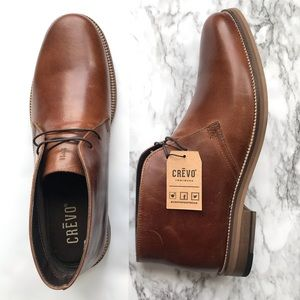 New Crevo Dorville Leather Chukka Boots Size 10.5